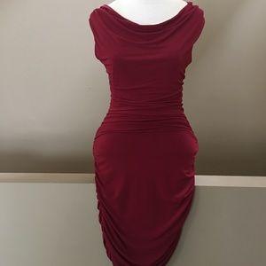 Form Fitting Saint Tropez West red dress. Size 8.